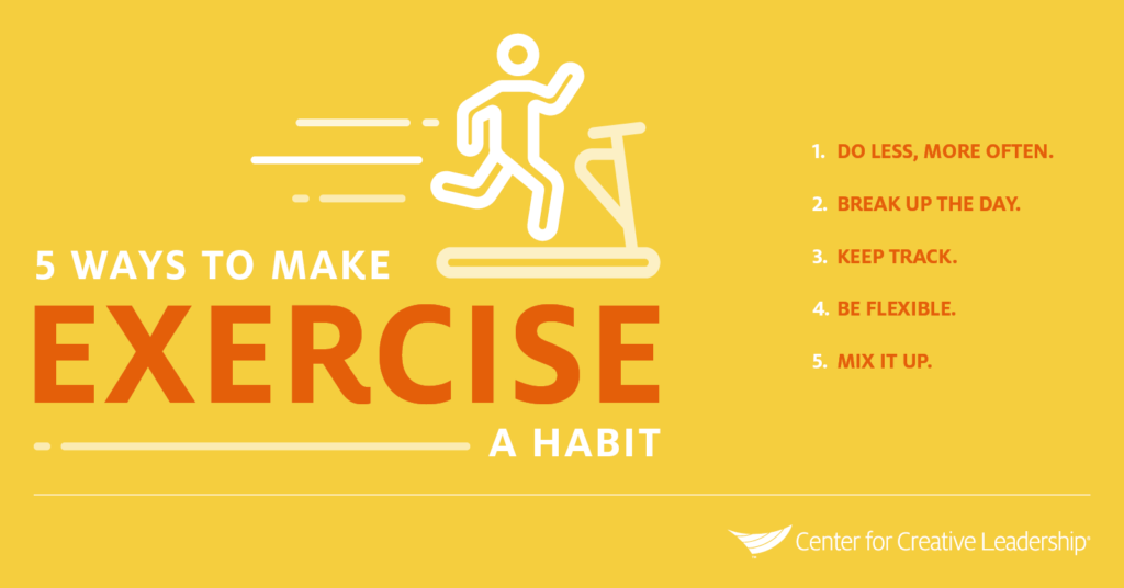 Infographic: 5 Ways Leaders Can Make Exercise a Habit